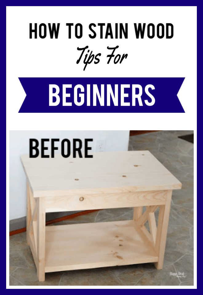 how to stain wood tips for beginners