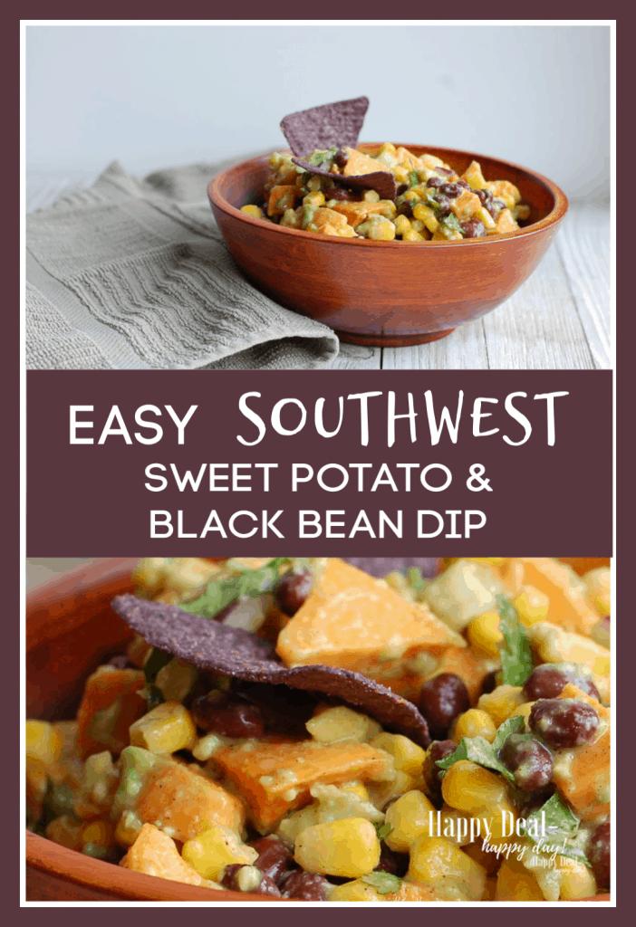 Easy Southwest Sweet Potato & Black Bean Dip