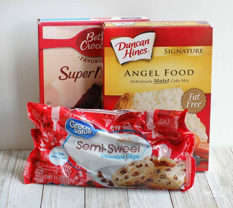 Chocolate Mug Cake ingredients