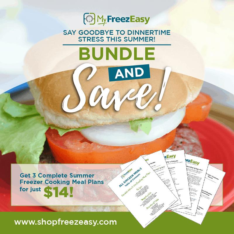 summer freezer meal recipes - 3 summer freezer cooking meal plan bundle