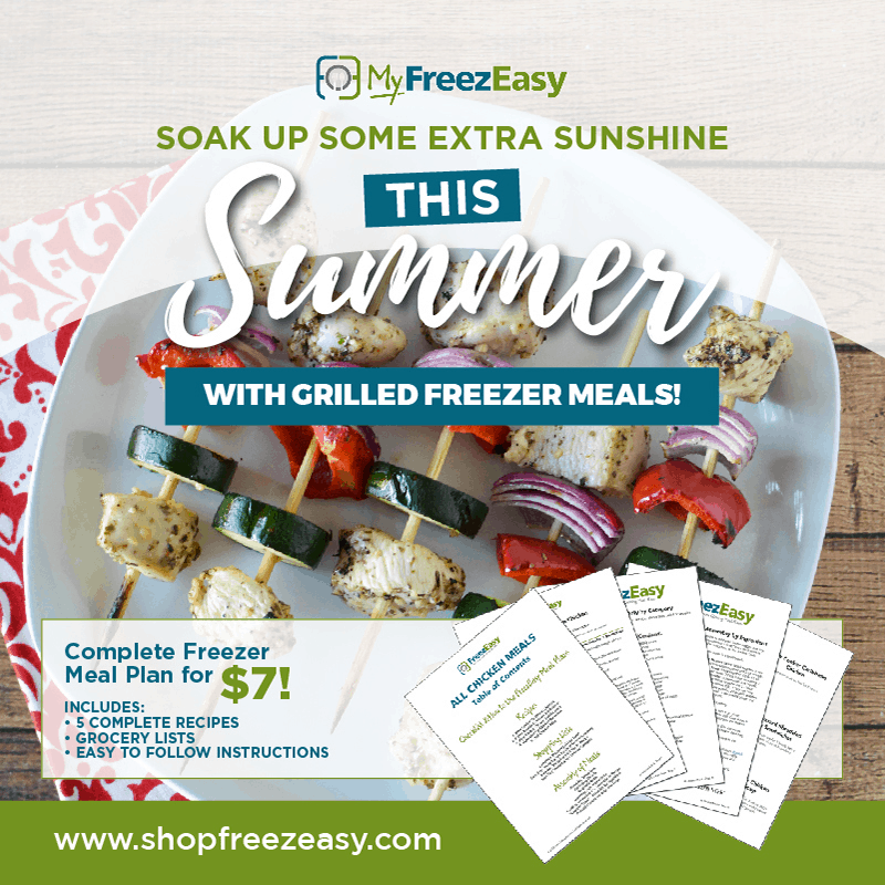 summer freezer meal recipes with grilled freezer meals