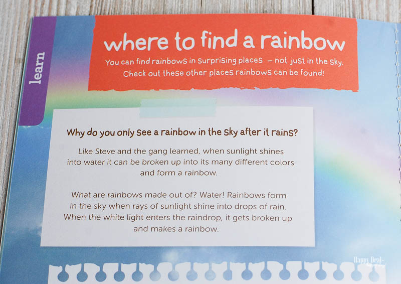why do you see a rainbow when it rains?