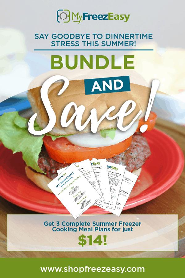 summer freezer meal recipes summer bundle - 3 meal plans for $14