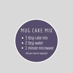 Chocolate Mug Cake free printable recipe label