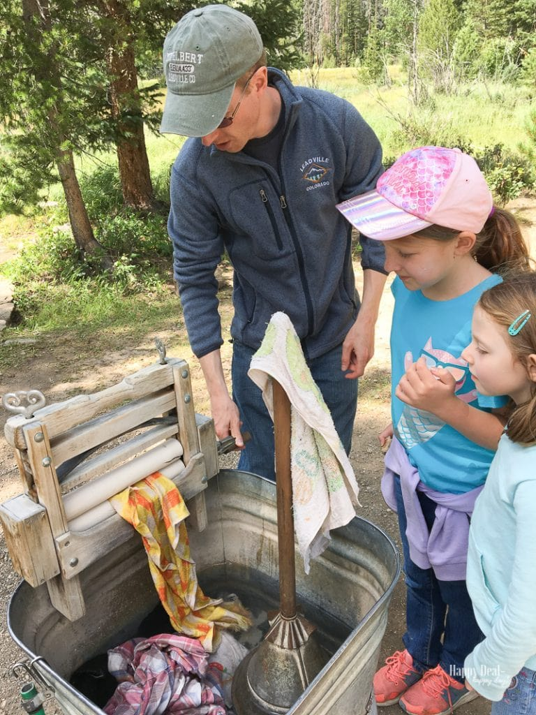 Rocky Mountain National Park Holzwarth Historic Site hand washing clothes