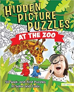 Christmas Gift Guide for Kids - hidden pictures at the zoo book