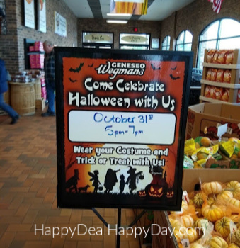 Wegmans Halloween Costume Party:  5:00-7:00 on Oct. 31st!  CANCELLED FOR 2020!