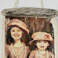 Easy Homemade Gift Ideas - photo transfer on wood