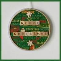 Easy Homemade Gift Ideas - scrabble tile christmas wall hanging
