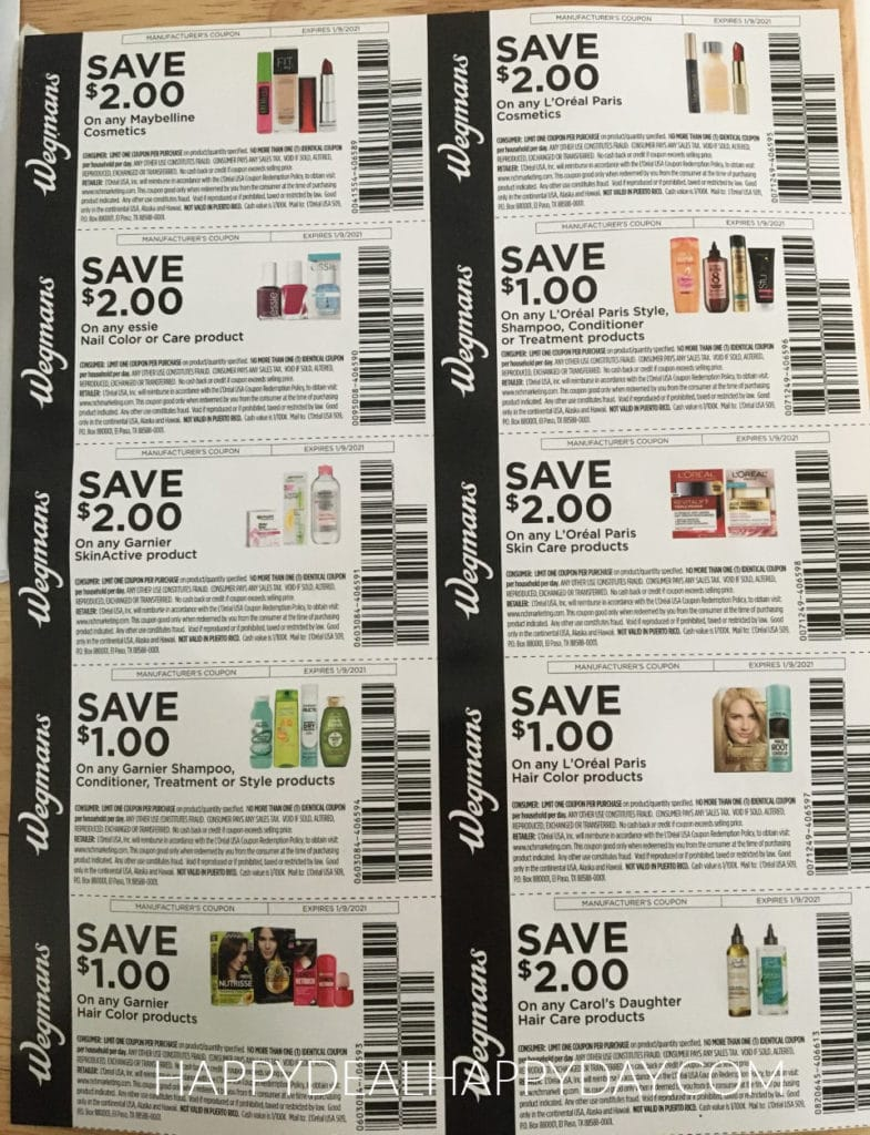 Wegmans coupons for beauty products september 2020