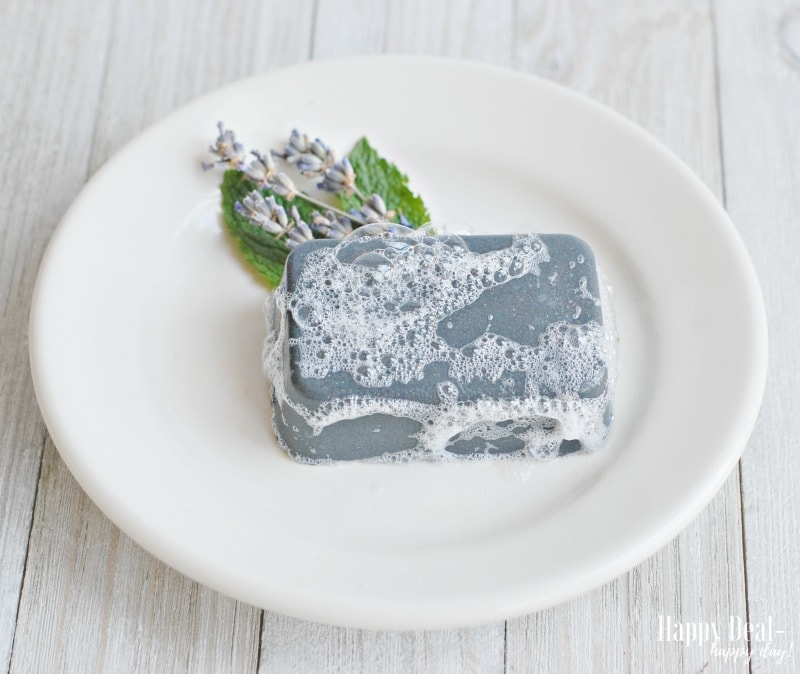 DIY Christmas Gift Idea - Charcoal Facial Soap