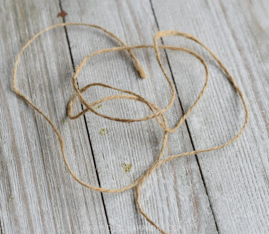 twine for hanging DIY Christmas Ornament