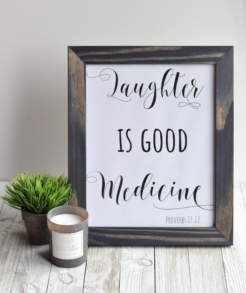 """""""Laughter Is Good Medicine"""" printable wall art"""