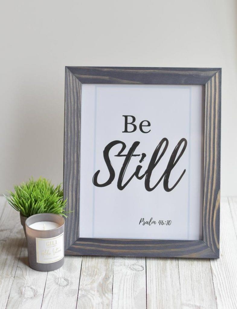 """""""Be Still"""" printable wall art"""