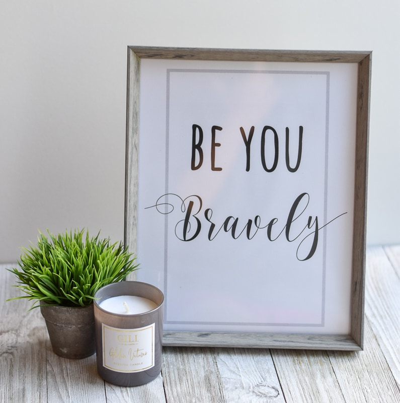 Be You Bravely Printable Wall Art