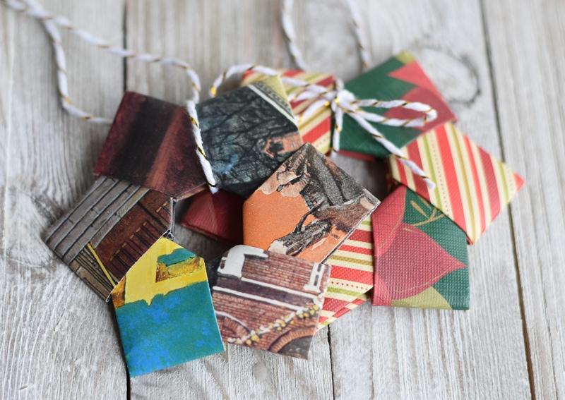origami wreath ornament instructions