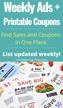 Weekly Ads (updated weekly) + Printable Coupons!