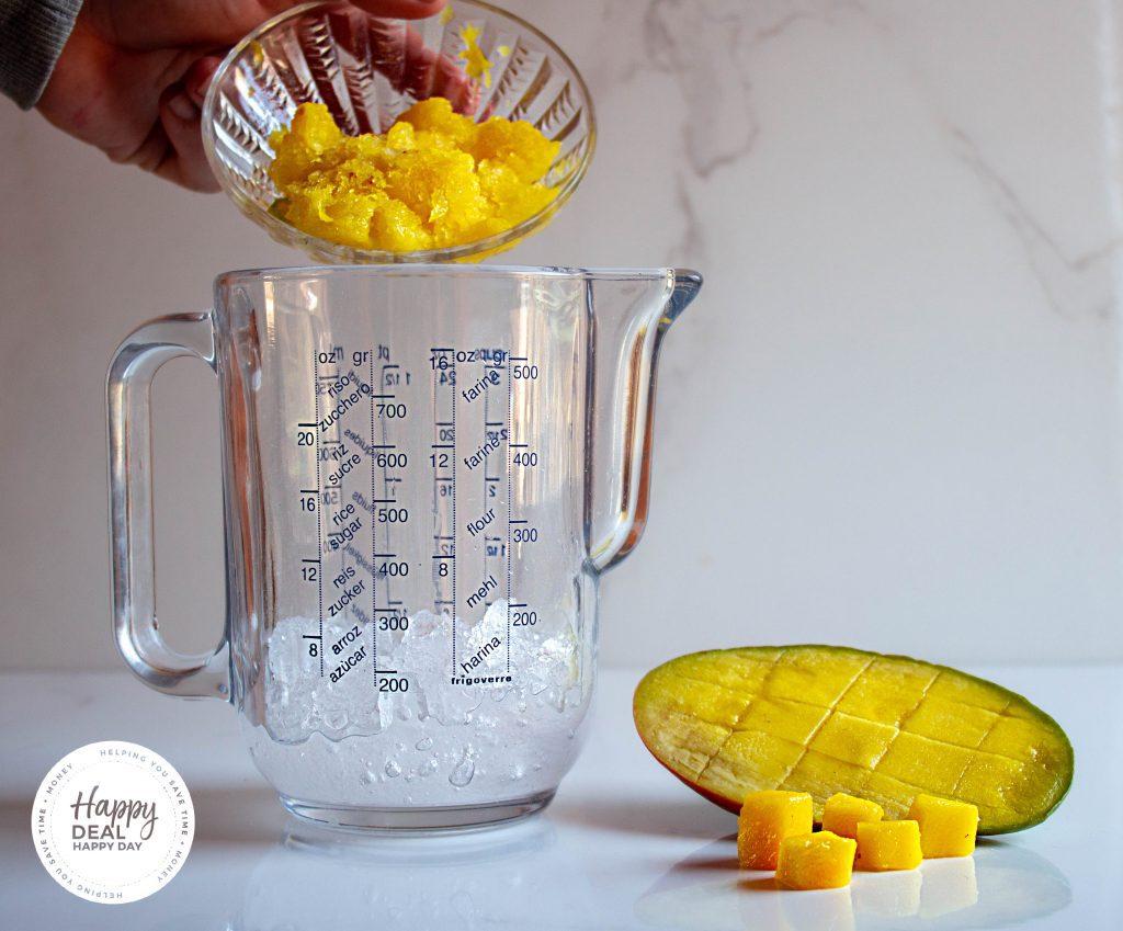 blend mango for a slushie